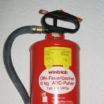 Brandschutz mit Feuerlöscher und Rauchmelder